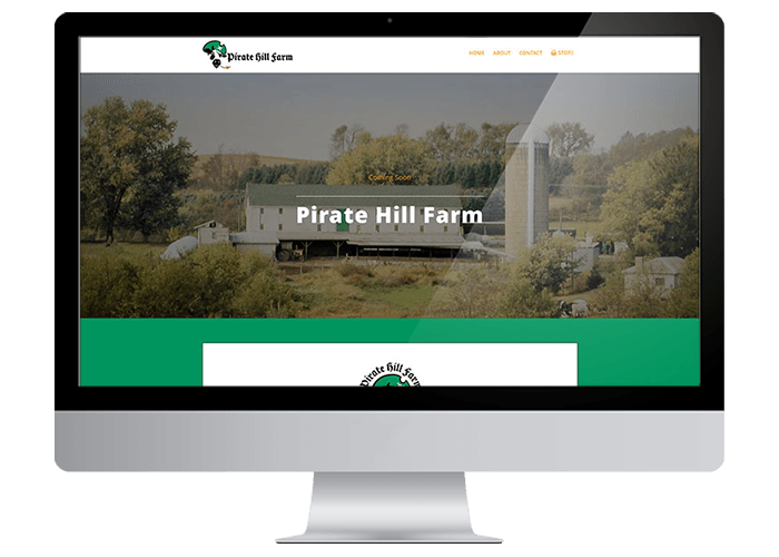 Pirate Hill Farms WordPress Website Design title=Pirate Hill Farms WordPress Website