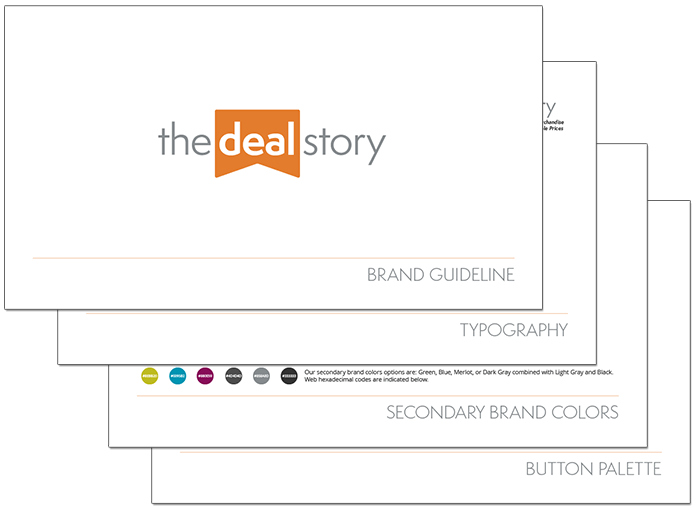 The Deal Story Brand Guideline title=The Deal Story Brand Guideline