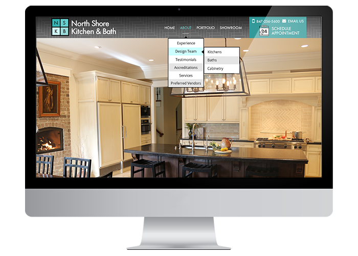 North Shore Kitchen U0026 Bath Photoshop UI Site Design